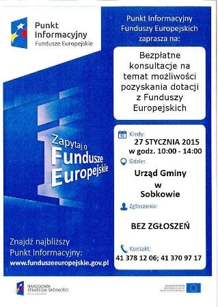 Mobilnym Punktem Informacyjnym dotyczącym Funduszy Europejskich