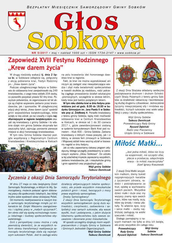 Głos Sobkowa maj 2017