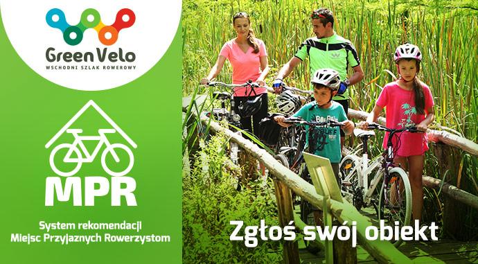 Zaproszenie do udziału wsystemie rekomendacji Miejsc Przyjaznych Rowerzystom na Wschodnim Szlaku Rowerowym Green Velo.